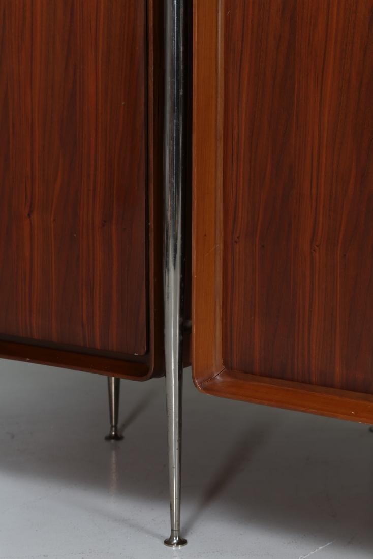 SILVIO CAVATORTA Five-door wooden wardrobe with mirrors; - 3