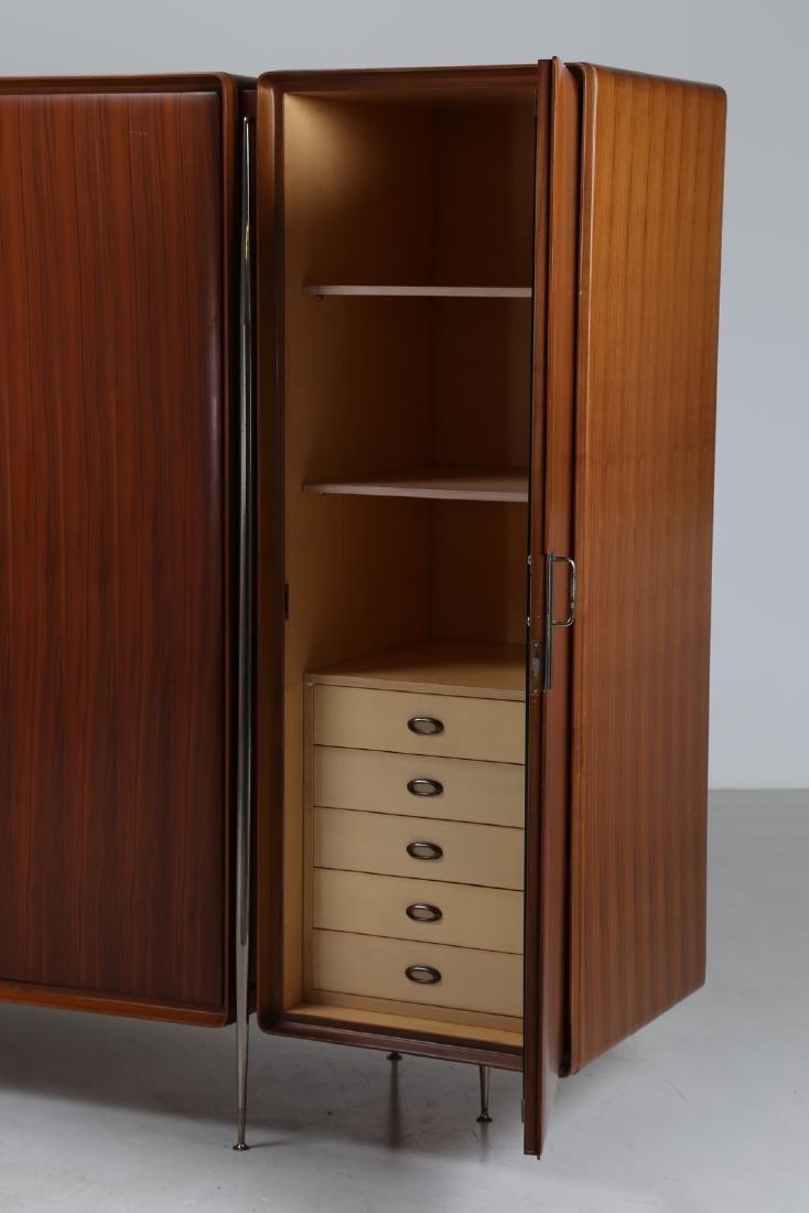 SILVIO CAVATORTA Five-door wooden wardrobe with mirrors; - 4