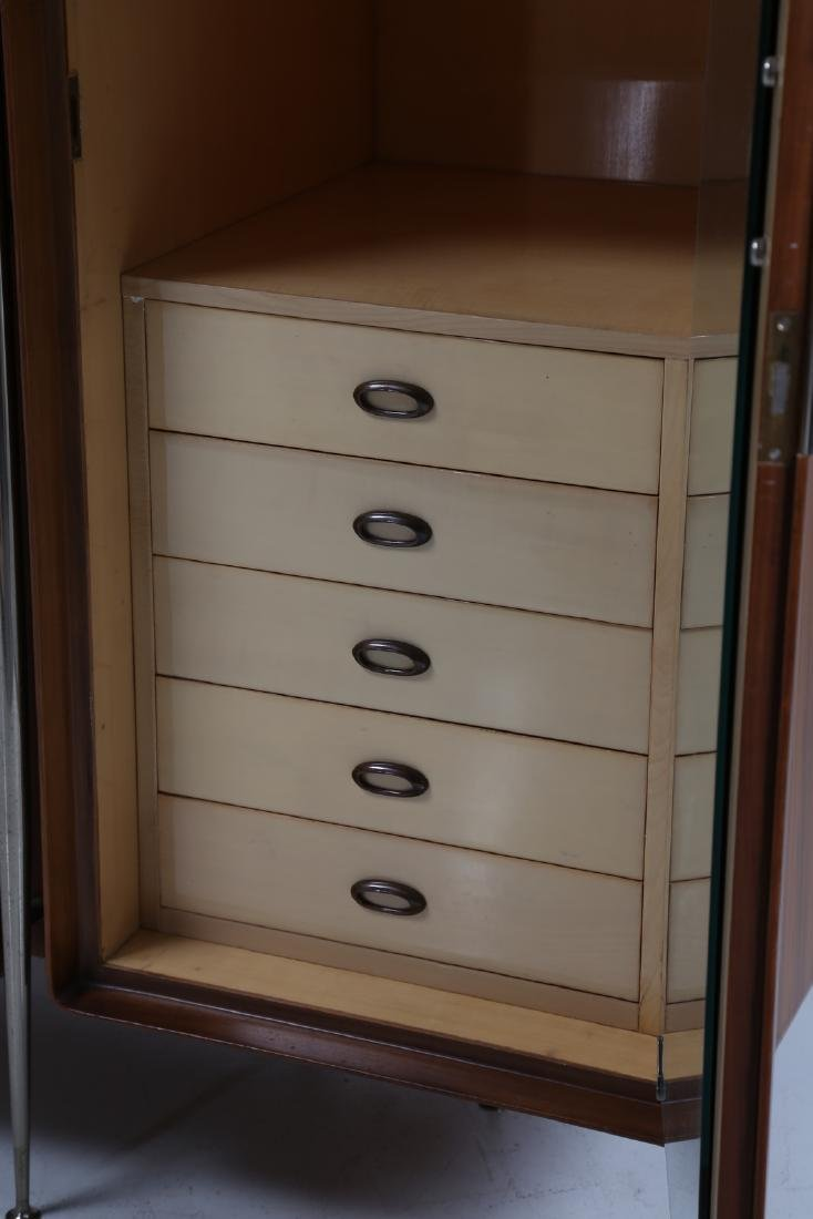 SILVIO CAVATORTA Five-door wooden wardrobe with mirrors; - 5