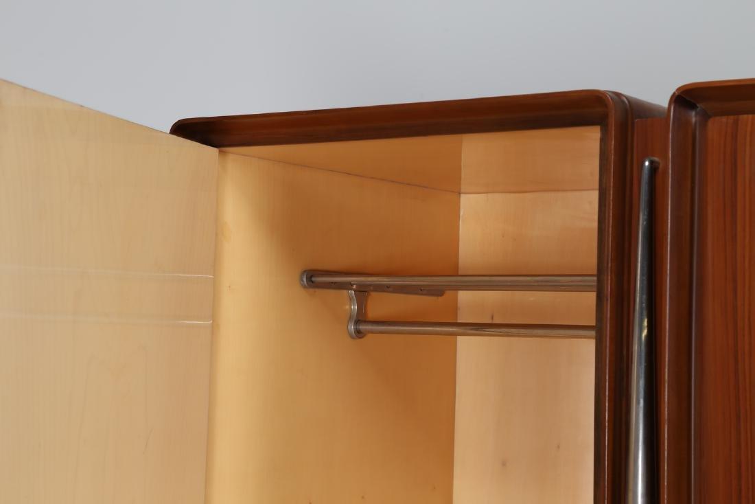 SILVIO CAVATORTA Five-door wooden wardrobe with mirrors; - 7