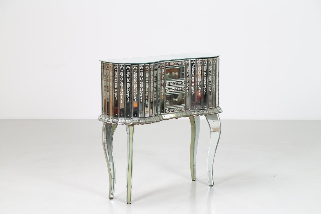 LUIGI BRUSOTTI Attrib. Glass and nickel-plated brass
