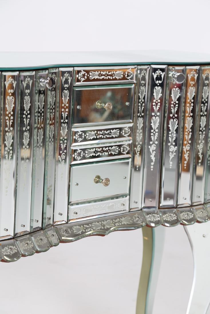 LUIGI BRUSOTTI Attrib. Glass and nickel-plated brass - 3