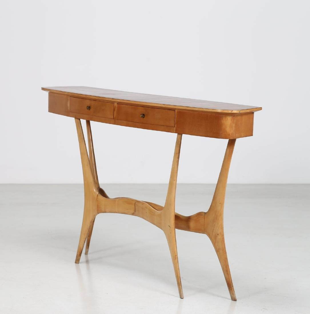 MANIFATTURA ITALIANA  Maple and rosewood console table,