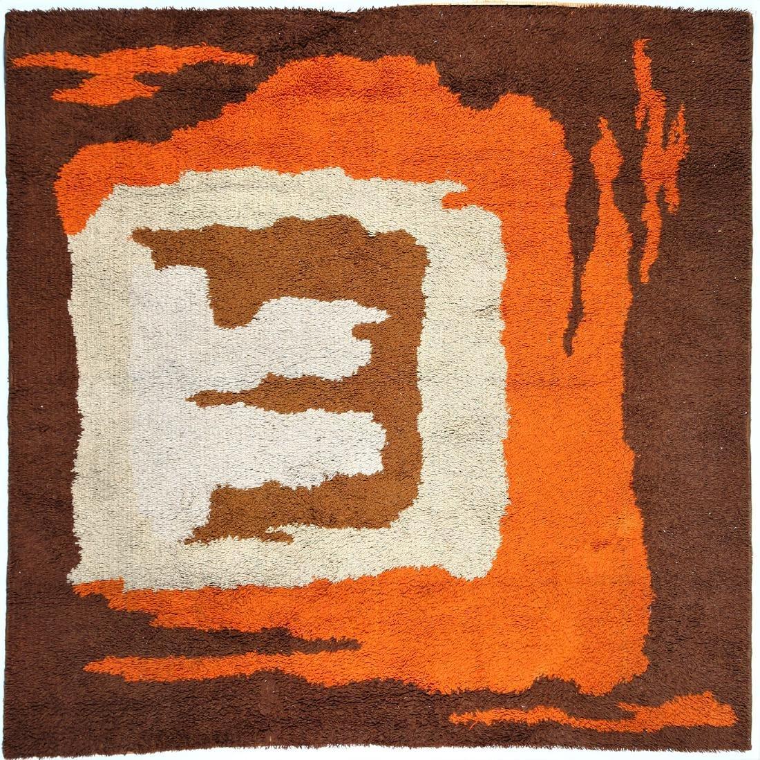 CARLO  HAUNER Wool rug, 1970s.