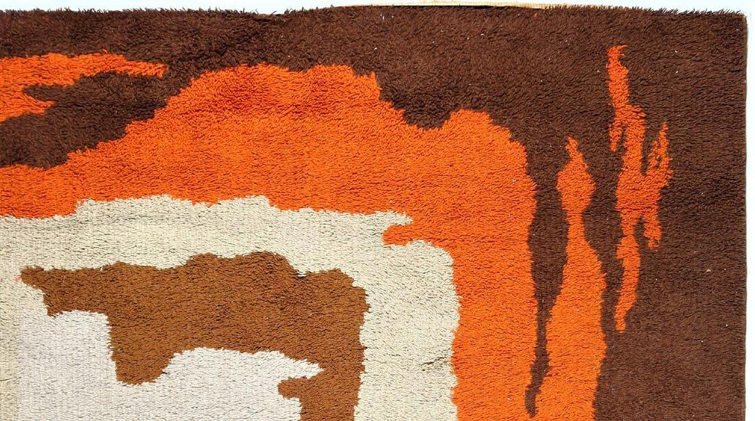 CARLO  HAUNER Wool rug, 1970s. - 2