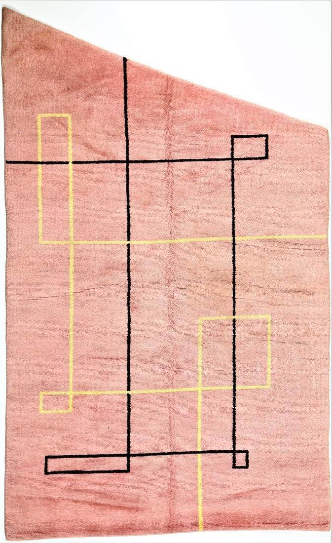 MANIFATTURA ITALIANA  Asymmetric wool rug, 1970s.