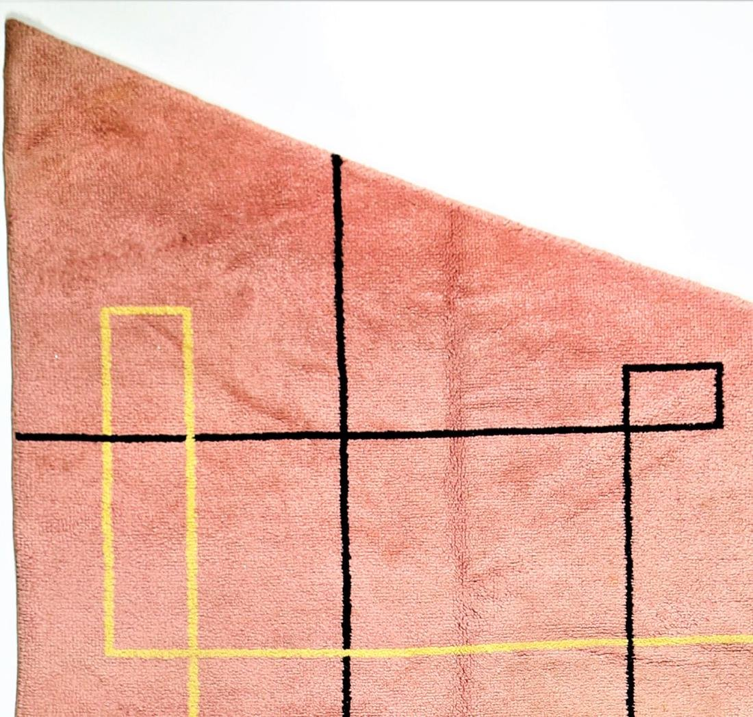 MANIFATTURA ITALIANA  Asymmetric wool rug, 1970s. - 2