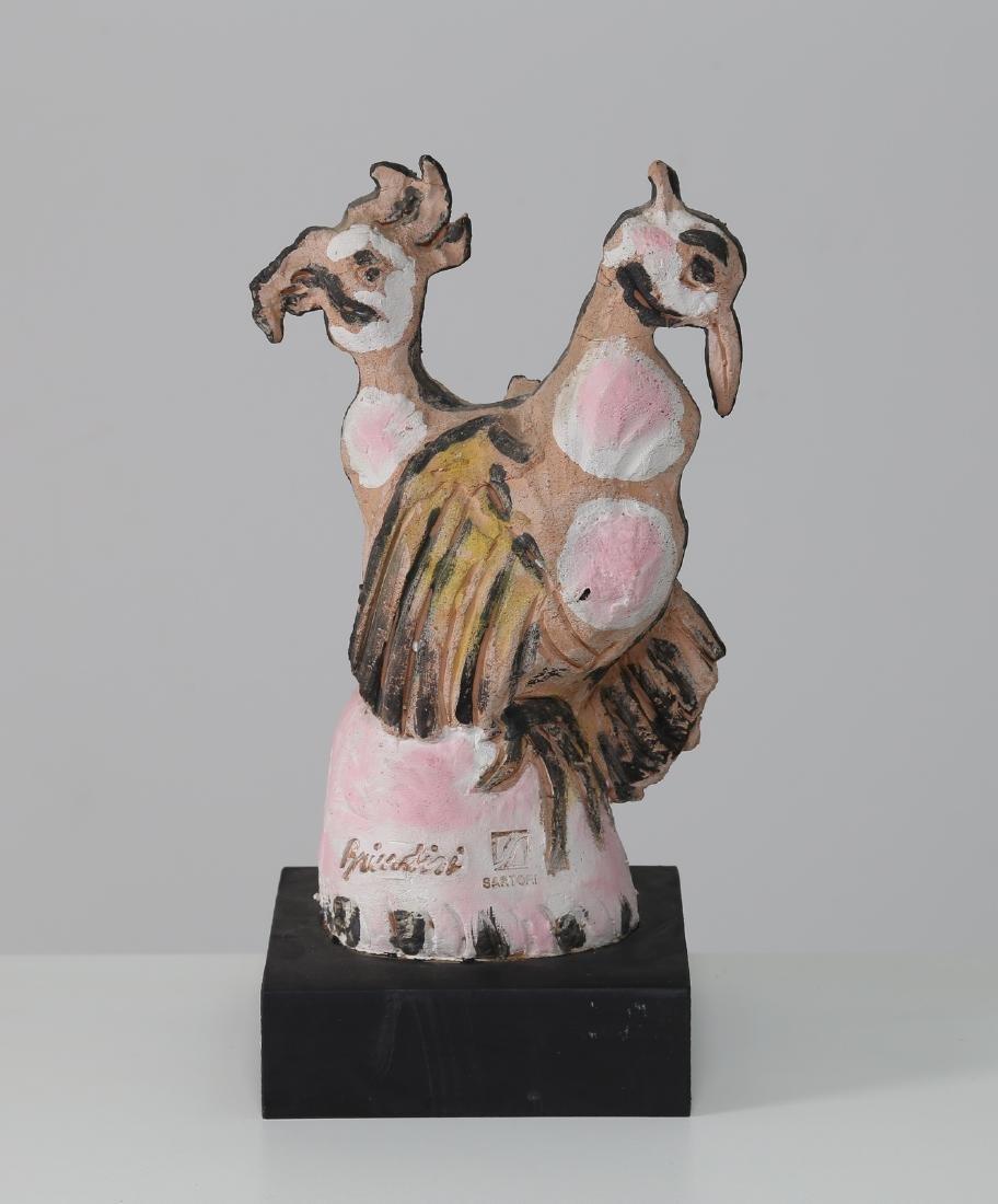 REMO BRINDISI Ceramic sculpture by Cesare Sartori from