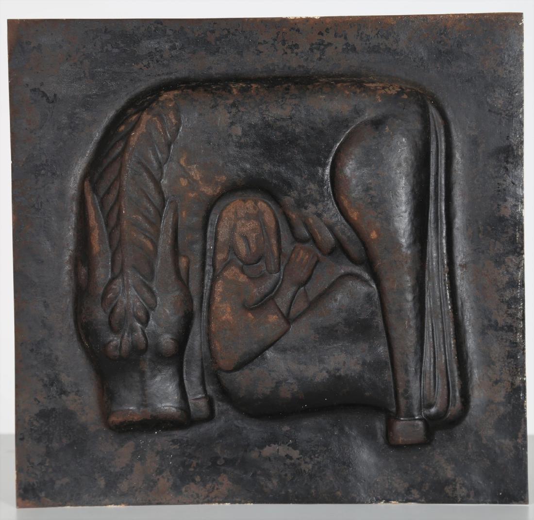 GIORGIO  WENTER MARINI Embossed metal plate depicting