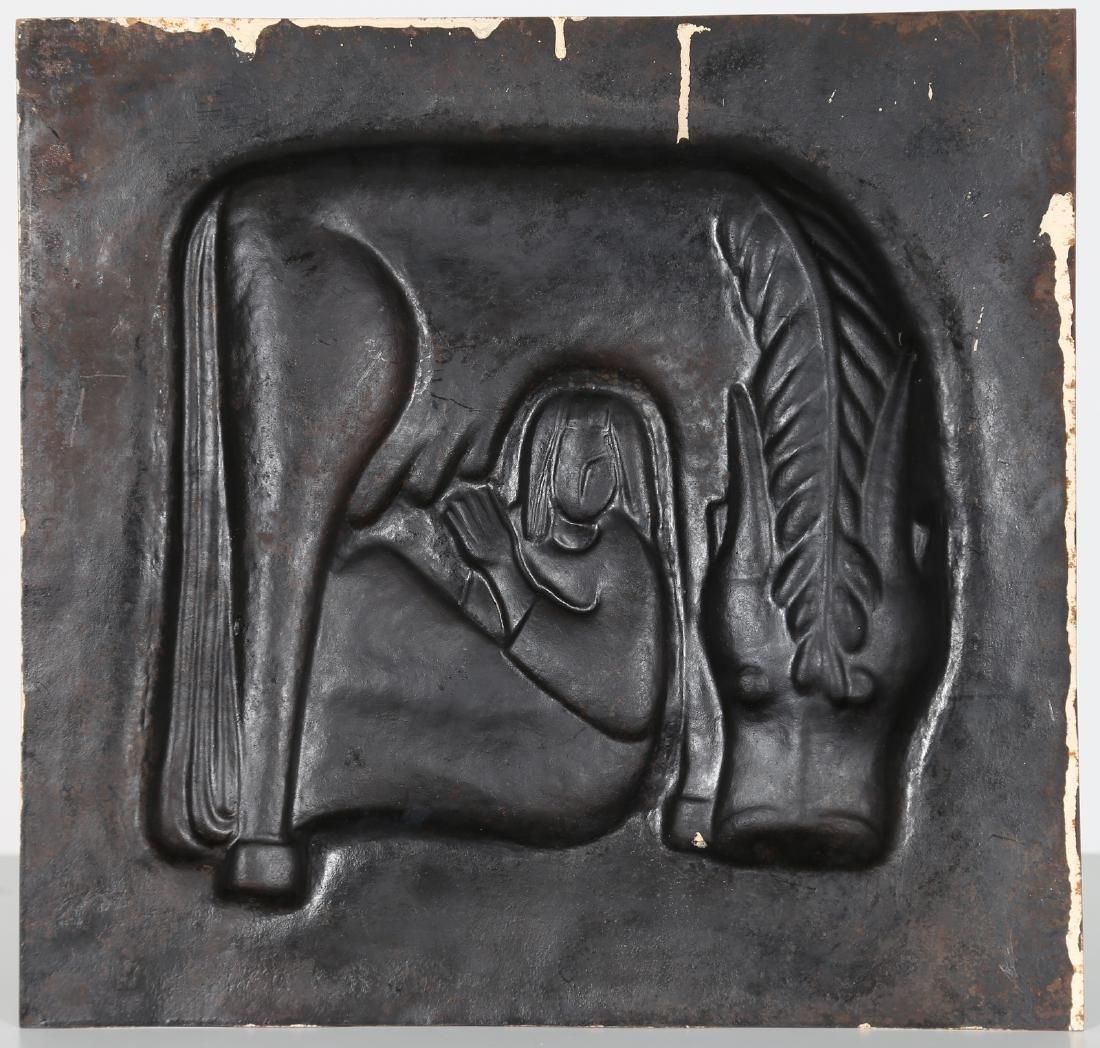 GIORGIO  WENTER MARINI Embossed metal plate depicting - 2