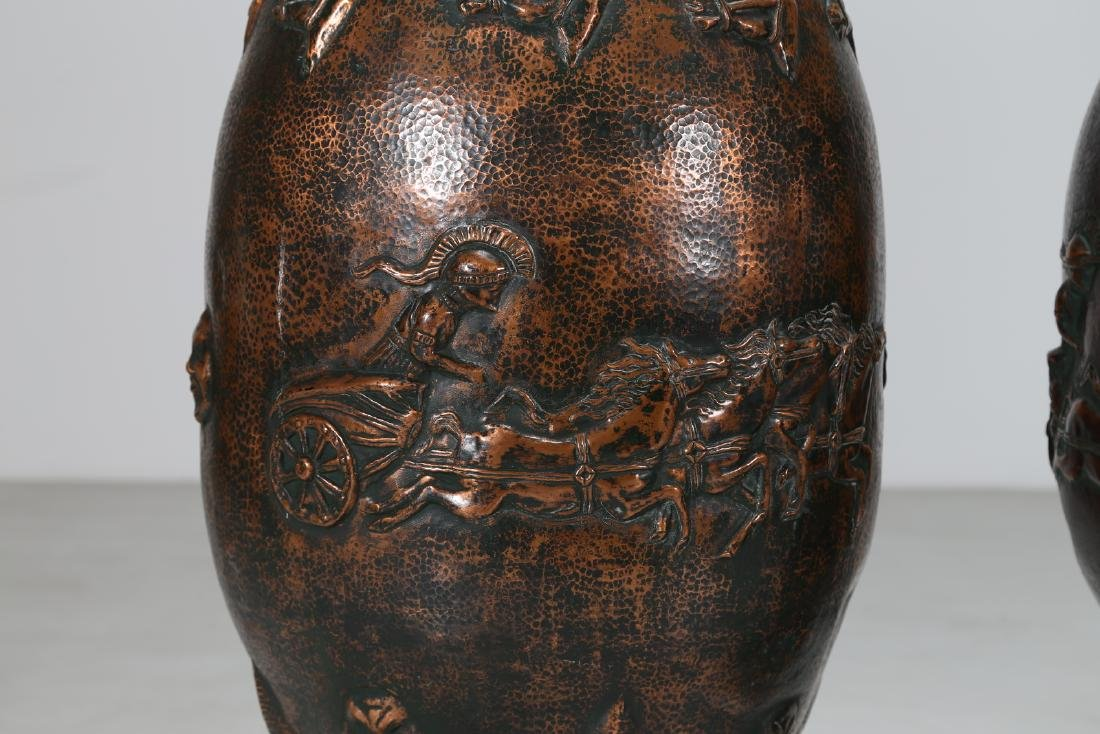 ANGELO BRAGALINI Distinctive pair of large vases, - 2
