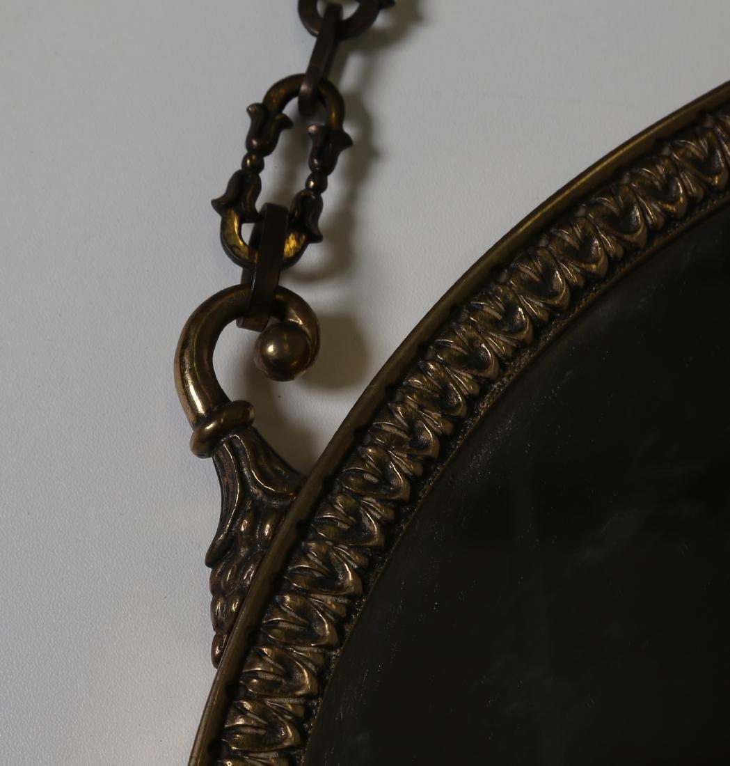 MANIFATTURA ITALIANA  Bronze and glass wall mirror, - 2