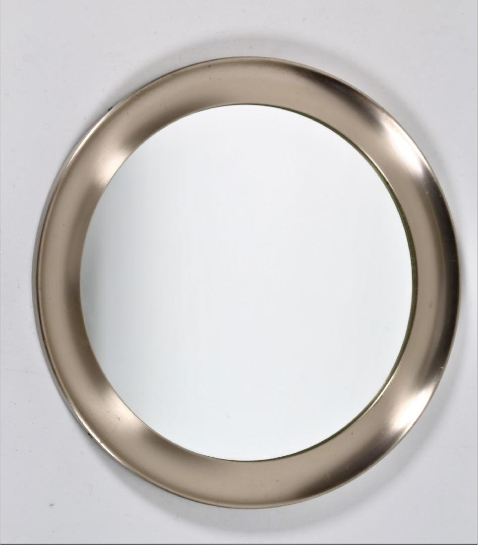 SERGIO MAZZA Narciso wall mirror in aluminium and glass