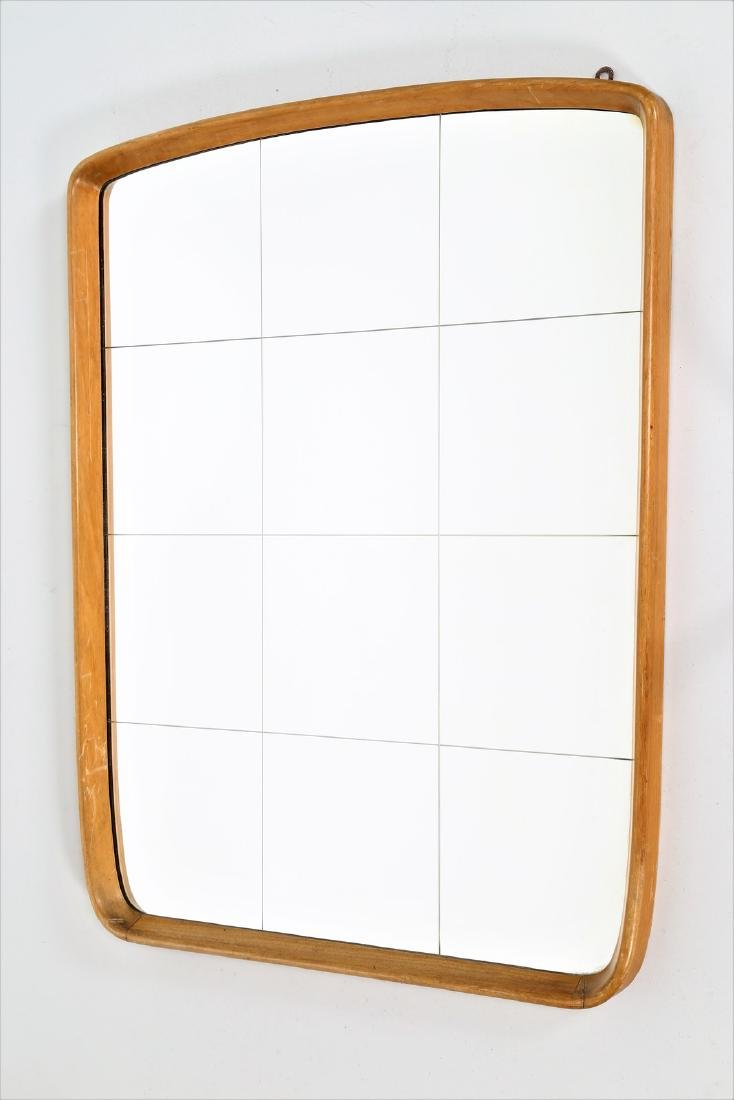 OSVALDO BORSANI Wood and glass mirror, 1950s.