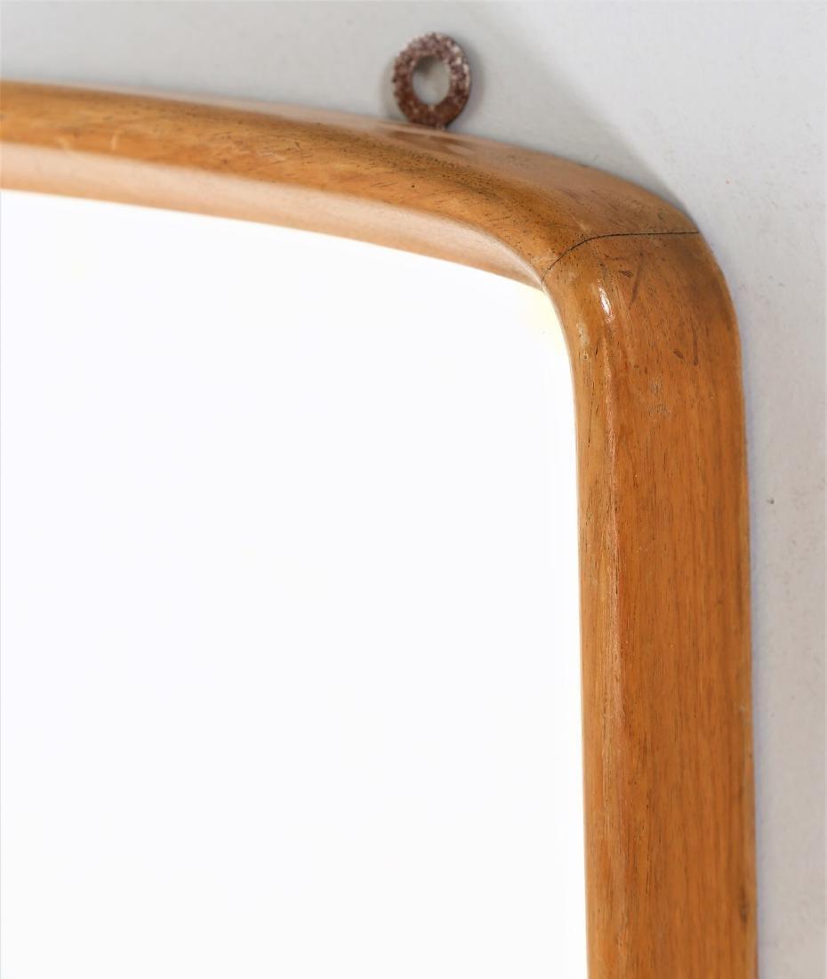 OSVALDO BORSANI Wood and glass mirror, 1950s. - 2