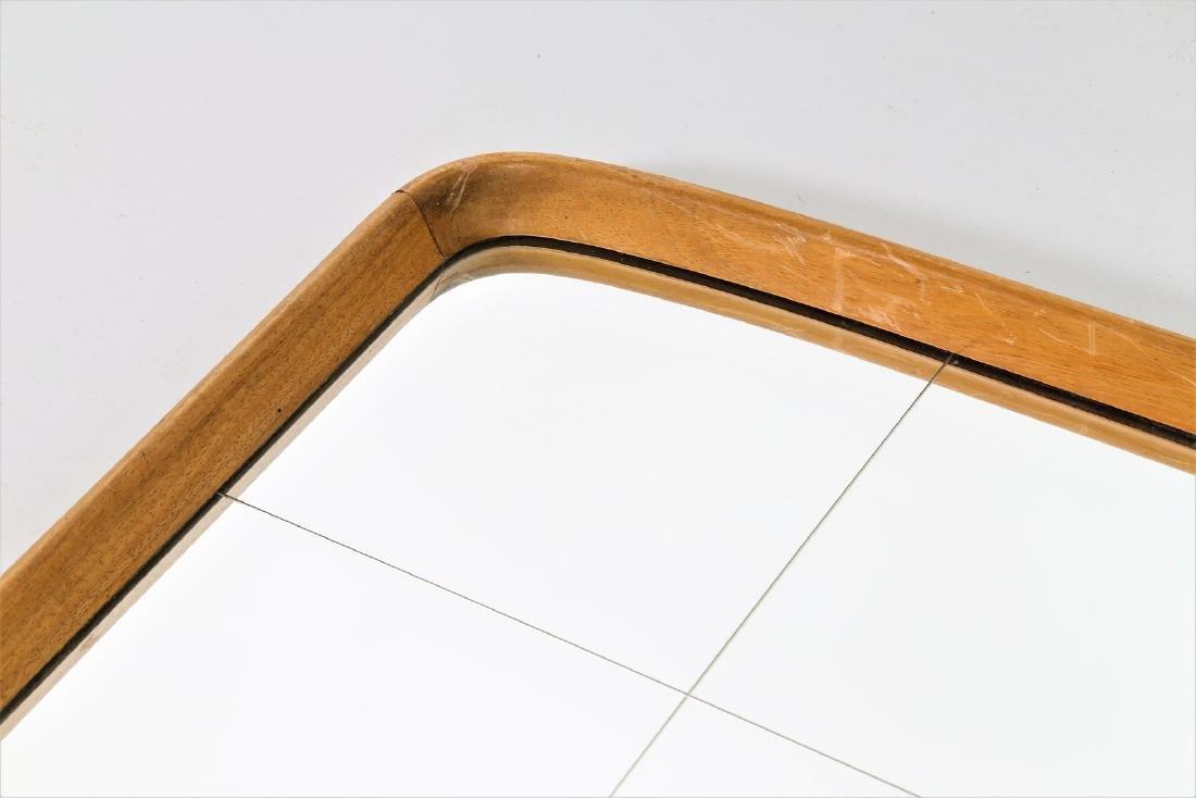 OSVALDO BORSANI Wood and glass mirror, 1950s. - 3