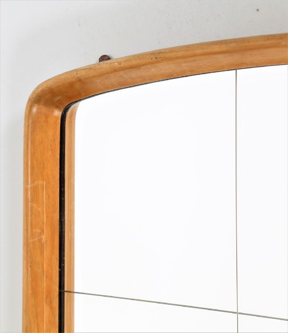 OSVALDO BORSANI Wood and glass mirror, 1950s. - 4