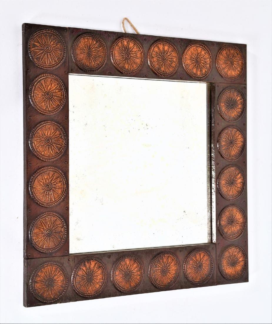 SANTAMRBOGIO E DE BERTI Distinctive mirror in copper