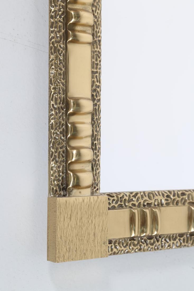 FRIGERIO DI DESIO  Wall mirror in brass and glass, - 2