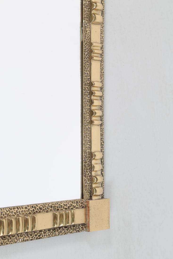 FRIGERIO DI DESIO  Wall mirror in brass and glass, - 3