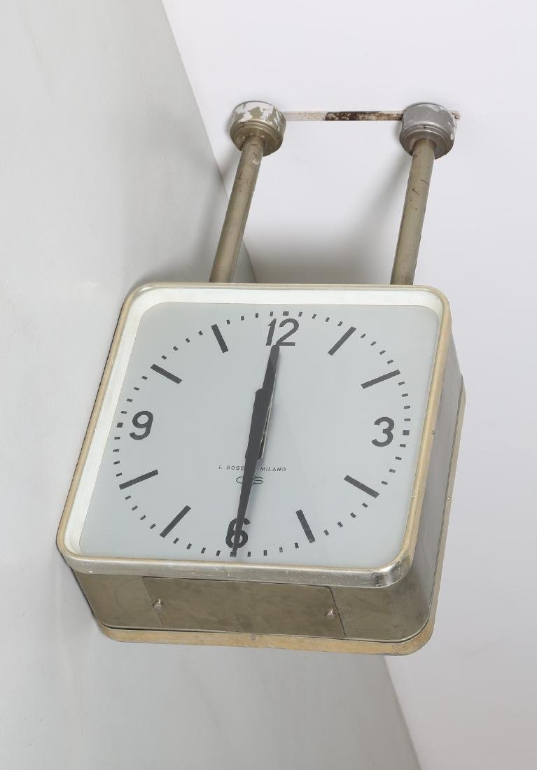 GIO' PONTI Metal ceiling-mounted clock by Boselli, - 2