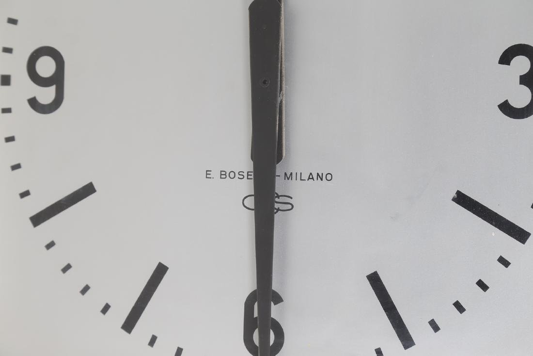 GIO' PONTI Metal ceiling-mounted clock by Boselli, - 3