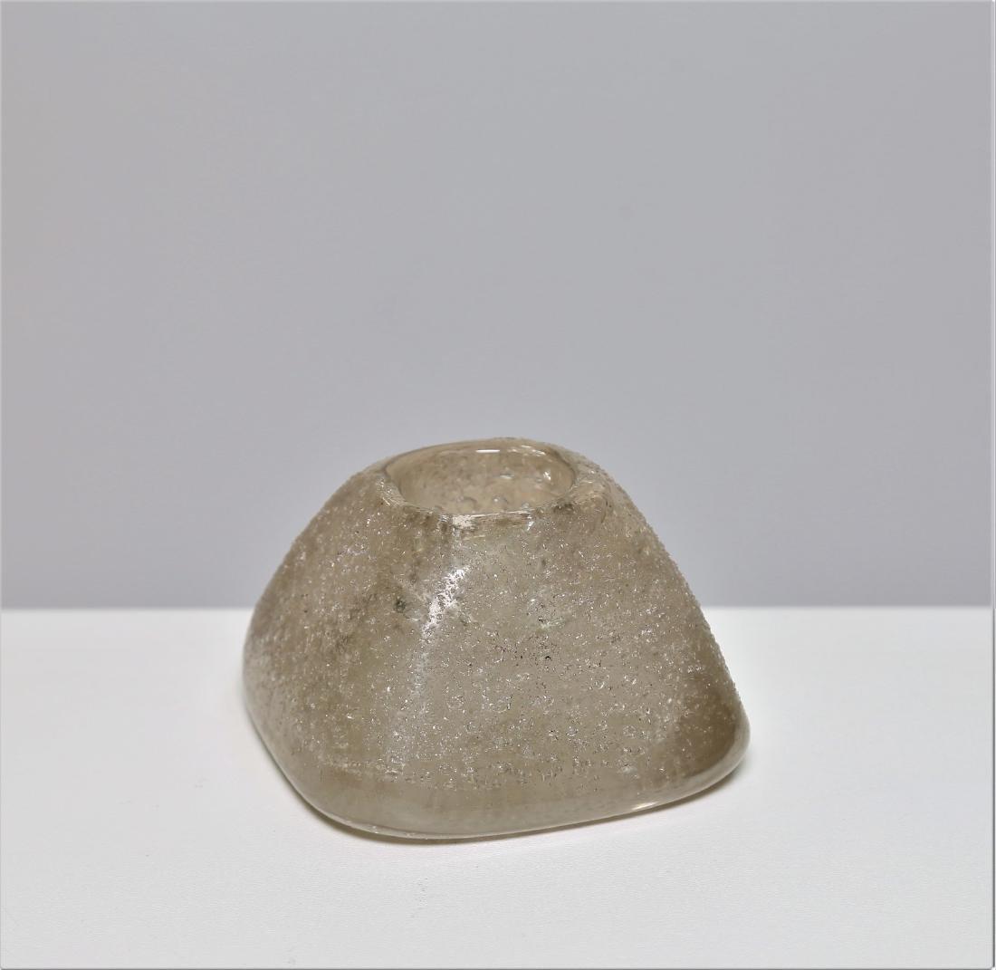 MANIFATTURA MURANO Small bubble glass vase, 1950s.