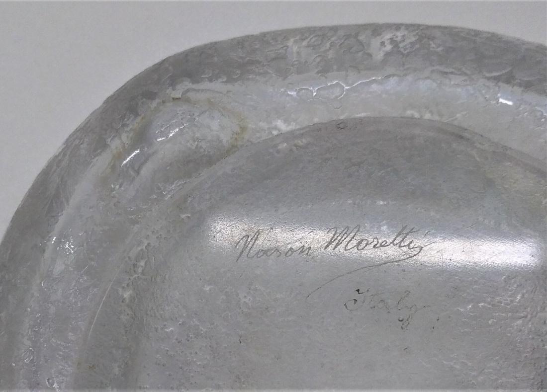 NASON MORETTI Glass bowl, pulegoso technique, 1960s. - 5