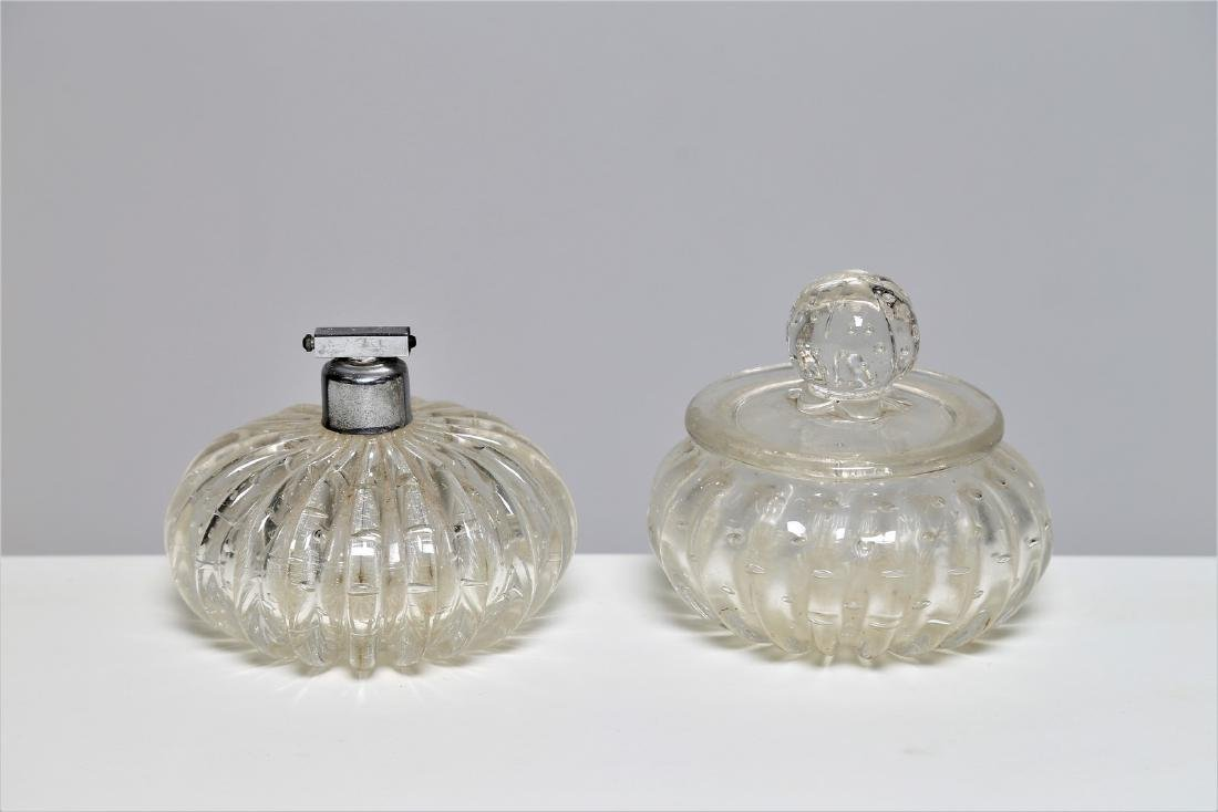 MANIFATTURA MURANO Jar and perfume bottle in clear
