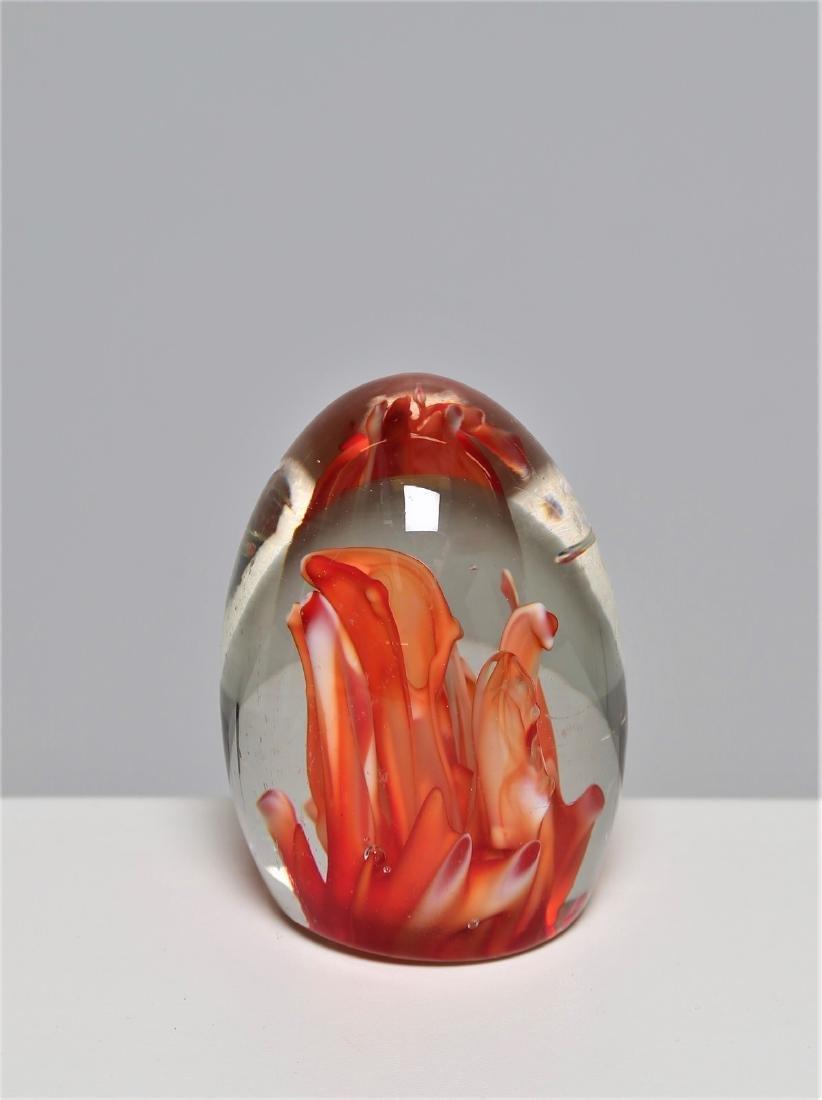 MANIFATTURA MURANO Glass egg, sommerso technique,