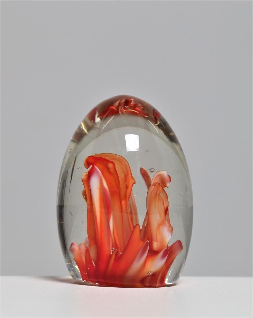 MANIFATTURA MURANO Glass egg, sommerso technique, - 2