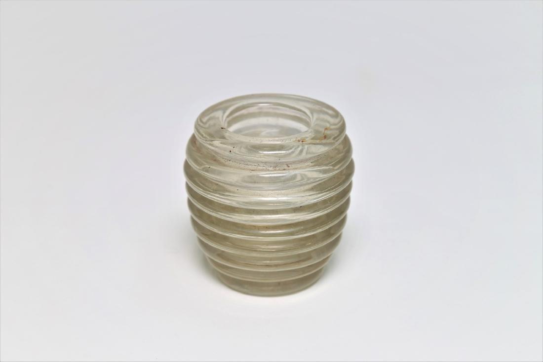 MANIFATTURA MURANO Small opalescent glass vase, 1950s .