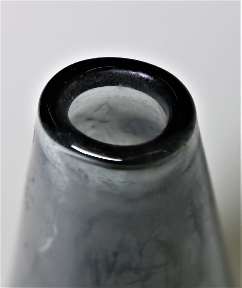 MANIFATTURA MURANO Grey glass vase, 1960s. - 2
