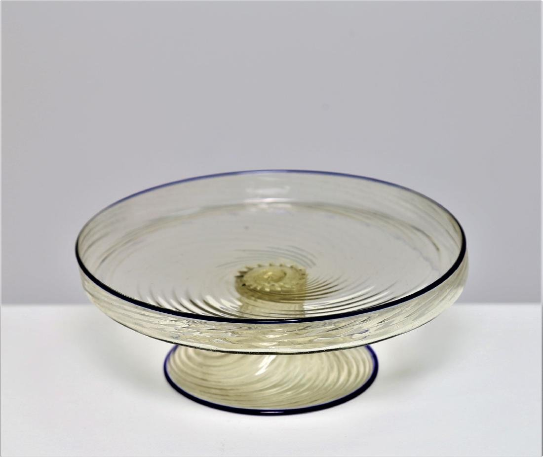 MANIFATTURA MURANO Cake stand in clear, twisted, ribbed