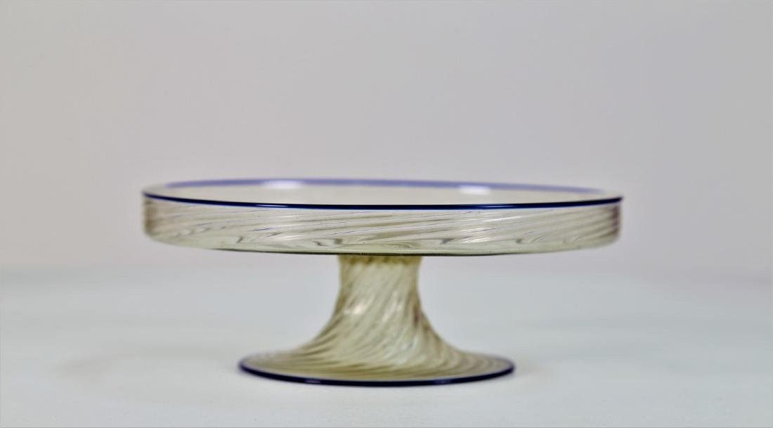 MANIFATTURA MURANO Cake stand in clear, twisted, ribbed - 4