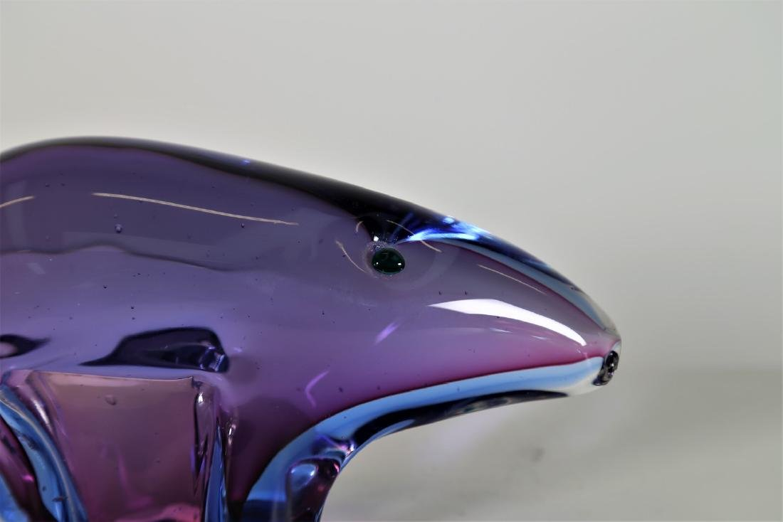 ARCHIMEDE SEGUSO Solid glass tapir with violet and blue - 2