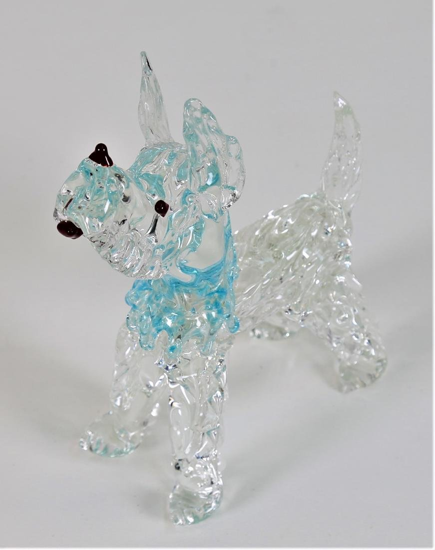 VETRERIE SEGUSO  Clear glass dog with coloured - 2