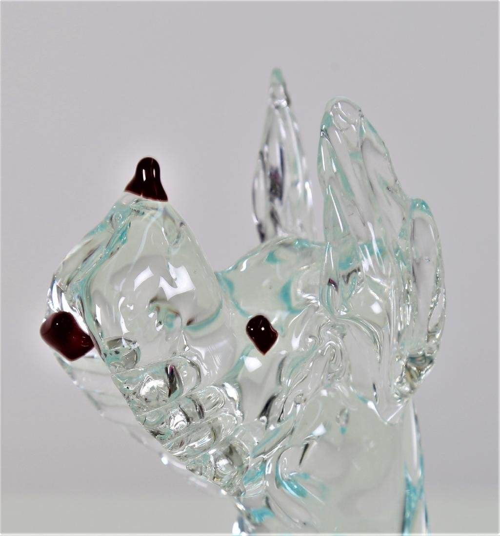 VETRERIE SEGUSO  Clear glass dog with coloured - 3