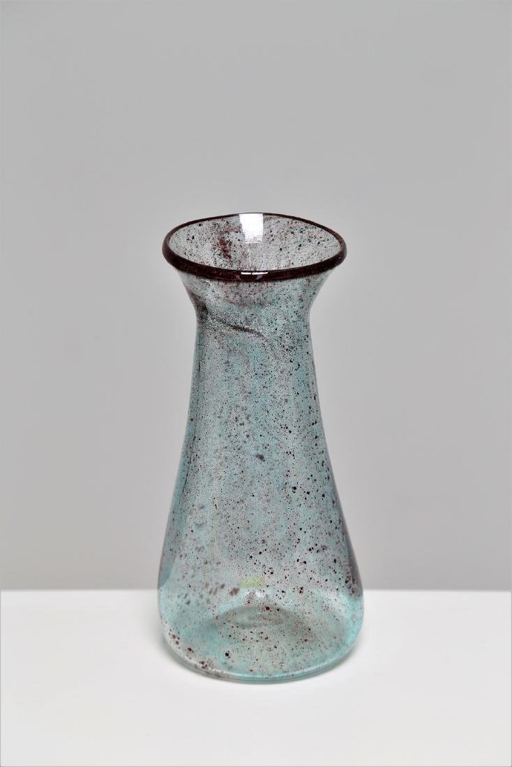 ERCOLE BAROVIER Purple glass vase with inclusions,