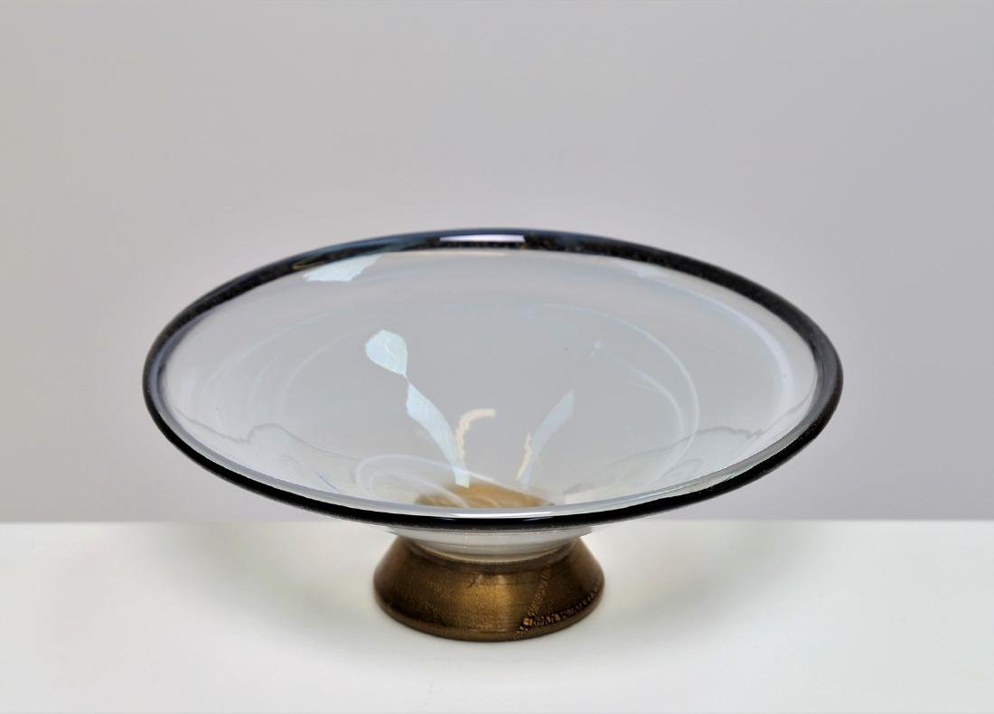 BAROVIER & TOSO  Centrepiece in clear glass, base in