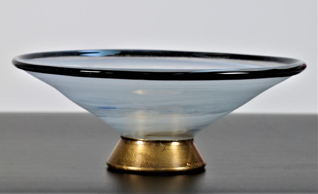 BAROVIER & TOSO  Centrepiece in clear glass, base in - 4