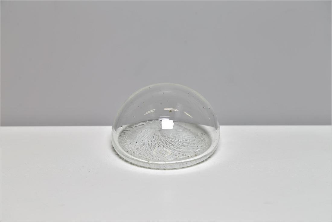 ARCHIMEDE SEGUSO Glass paperweight with lace-effect