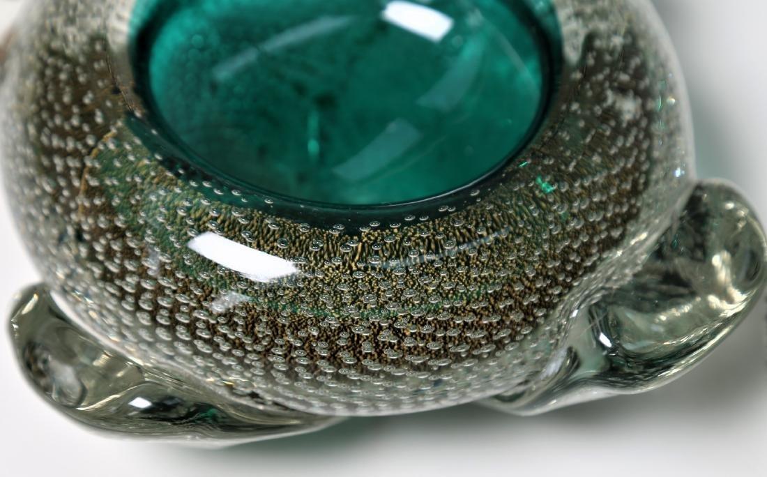 FLAVIO POLI Seguso Vetro d'Arte lidded bowl in sommerso - 3