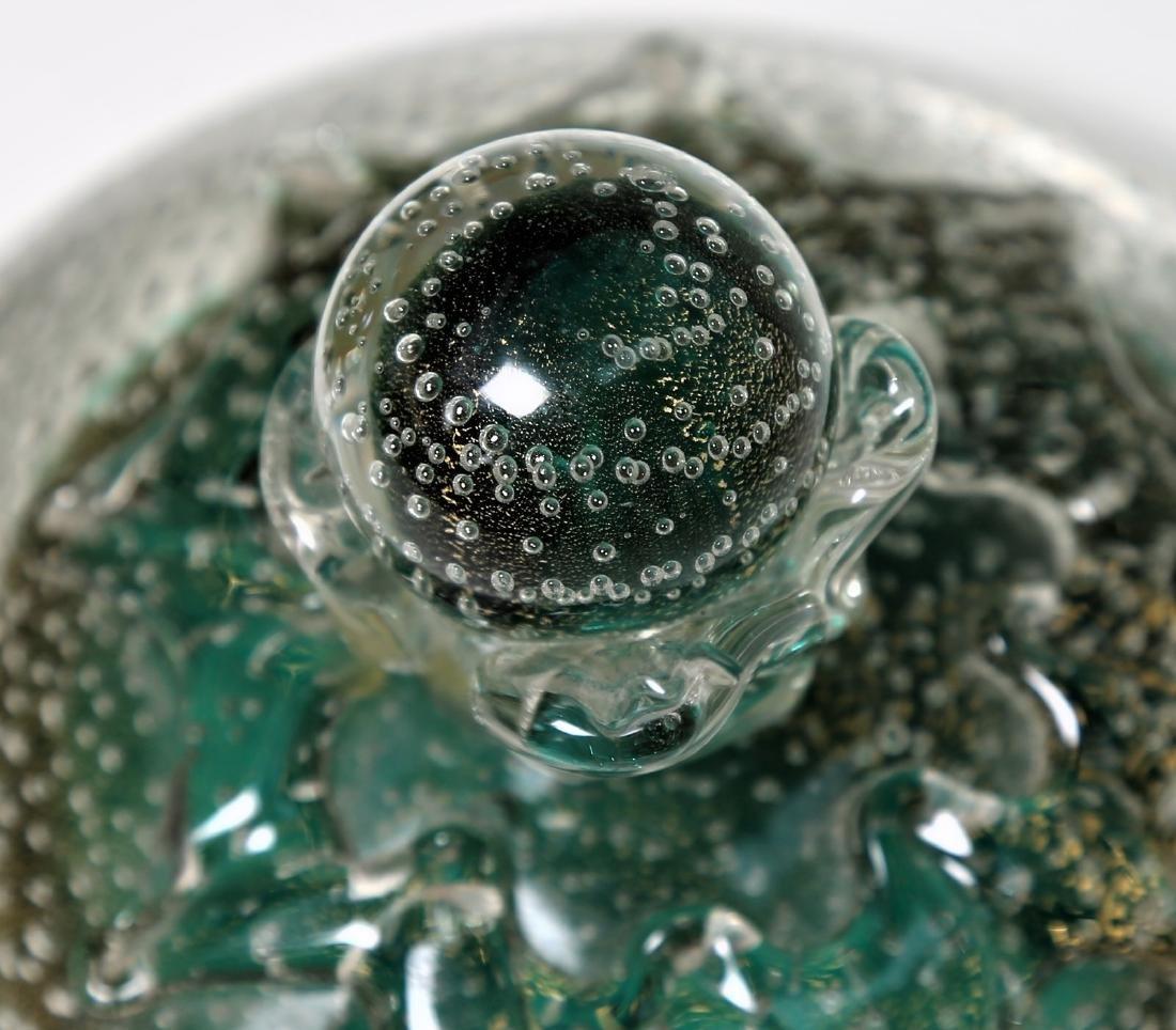 FLAVIO POLI Seguso Vetro d'Arte lidded bowl in sommerso - 6