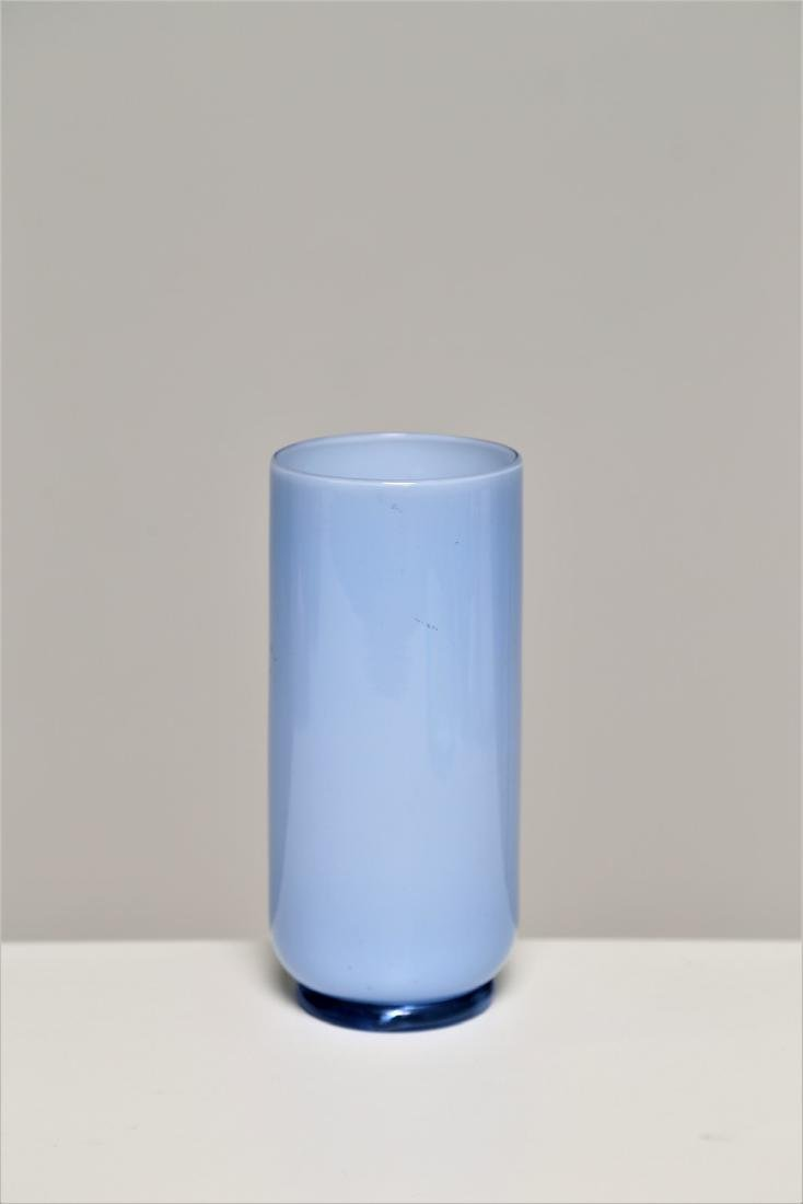 ZECCHIN & MARTINUZZI  Light blue cased glass vase,