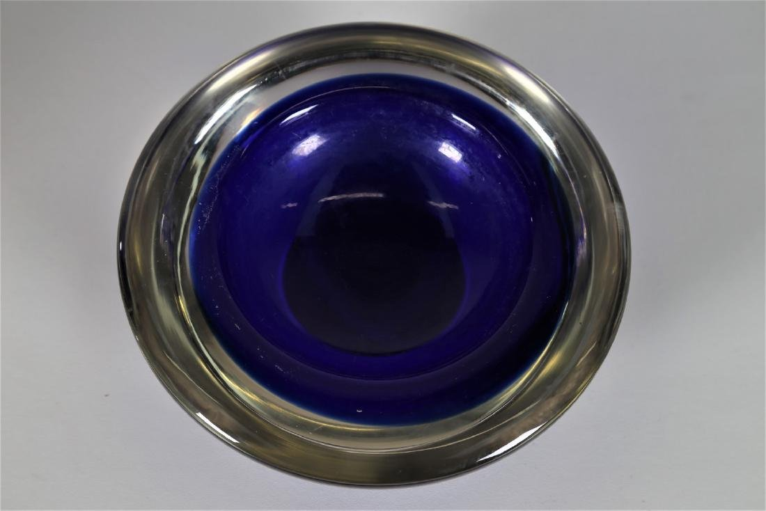 ROBERTO ANATRA Solid glass bowl with blue sommerso and - 2