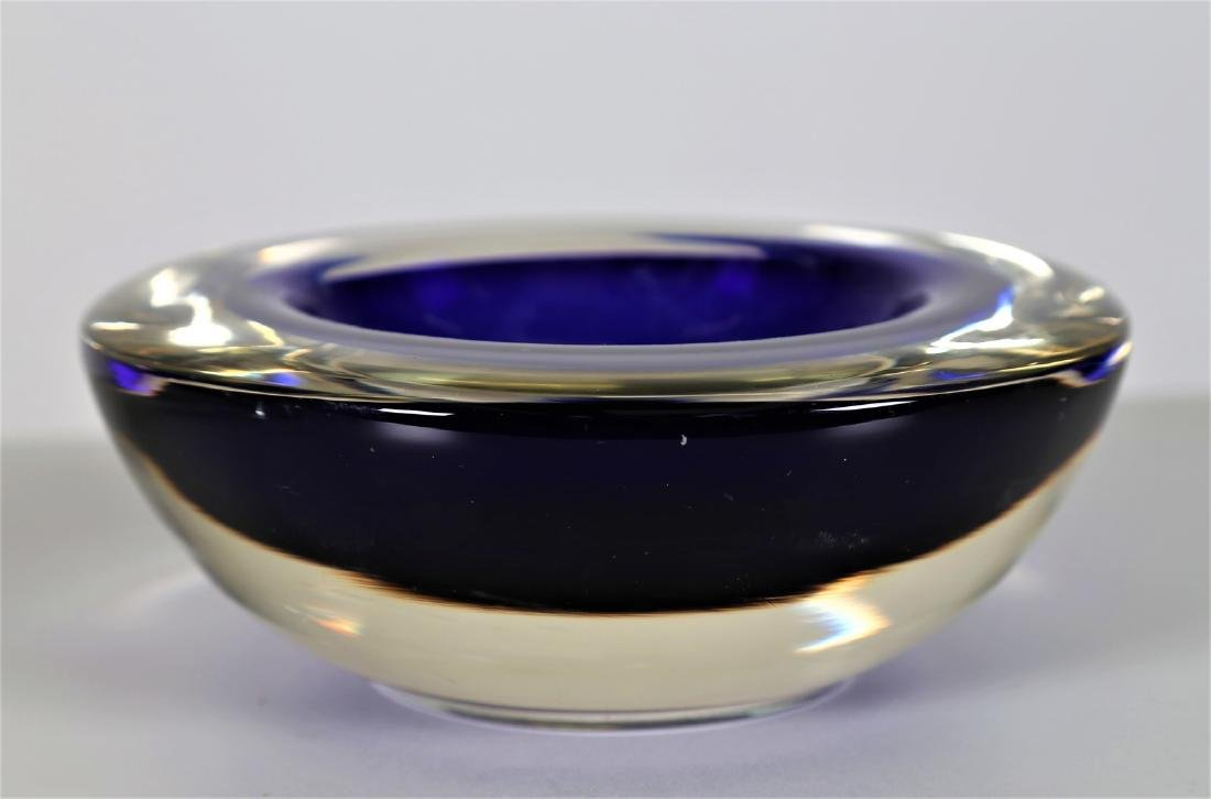 ROBERTO ANATRA Solid glass bowl with blue sommerso and - 3