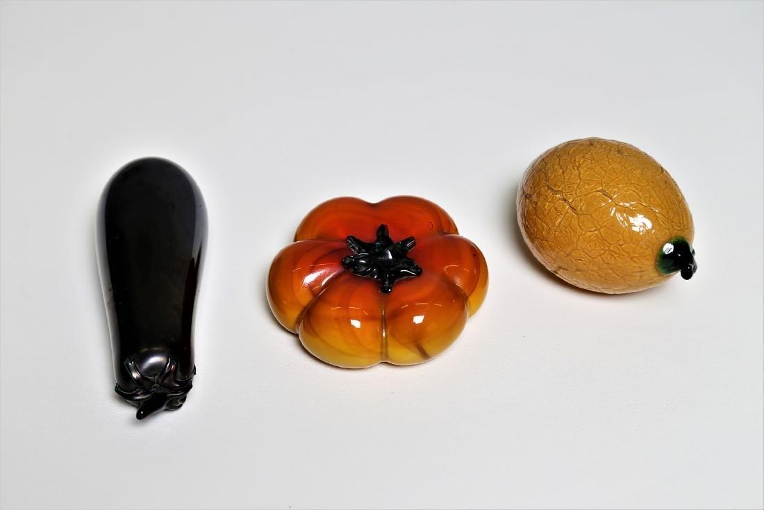 MANIFATTURA MURANO Glass lemon, tomato and aubergine