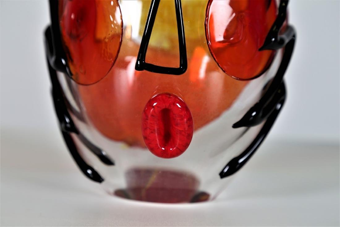 MANIFATTURA MURANO Clear glass sculpture with coloured - 6