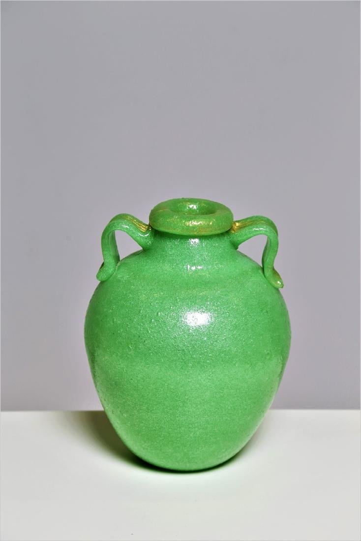 MANIFATTURA MURANO Glass vase with spiral cane
